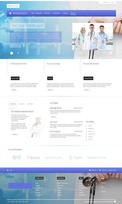 Joomla Medical Template Ameritage Medical
