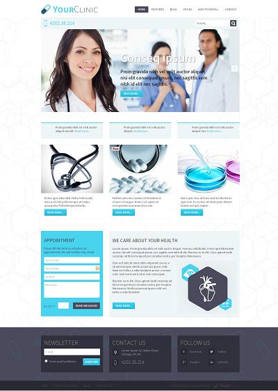 Joomla Medical Templates Hot Clinic