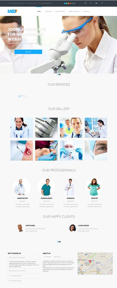Joomla Medical Template MedBro
