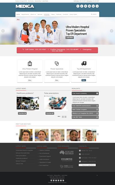 Joomla Medical Template Medica
