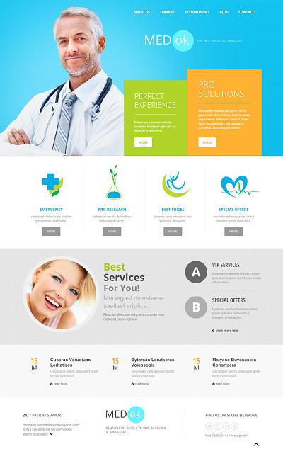 Joomla Medical Template Medical Services