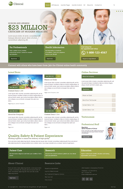Joomla Medical Template OT Clinical