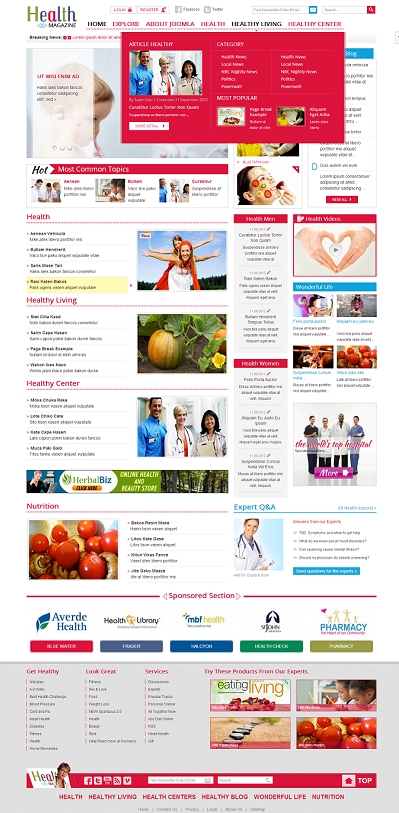 Joomla Medical Template SJ Health