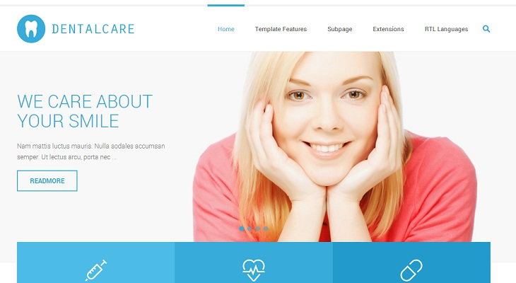 Joomla Medical Templates Featured