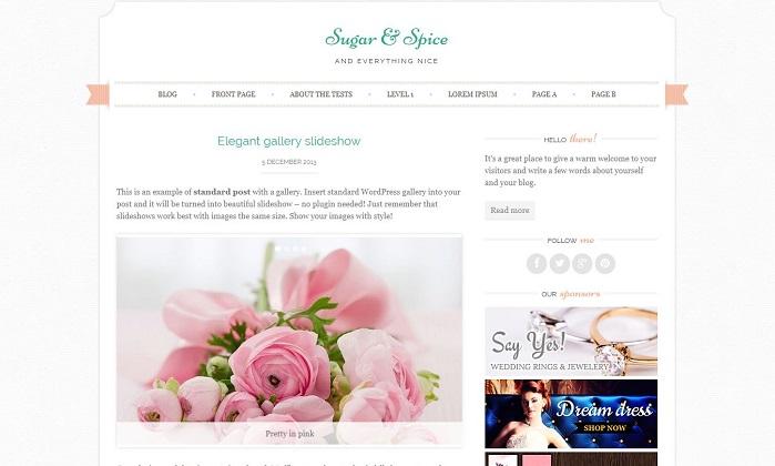 Sugar & Spice-Wordpress